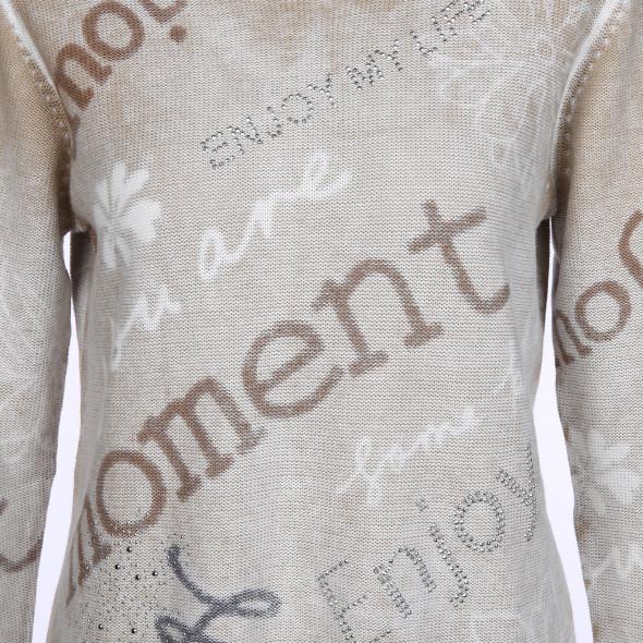 Damen Pullover im Used Look mit Glitzersteinchen