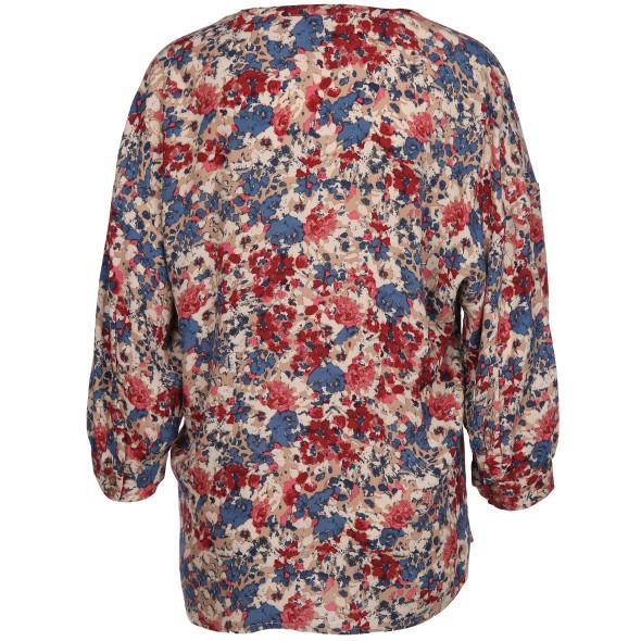 Damen Bluse mit floralem Alloverprint