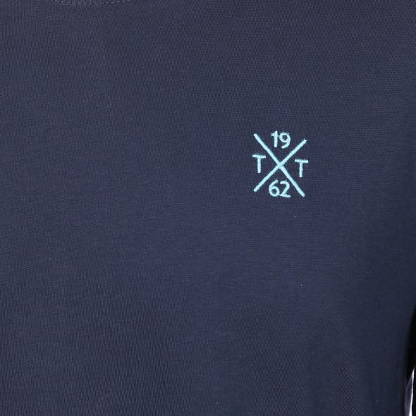 Herren Langarm Shirt mit Stickerei