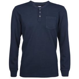 Herren Sweatshirt im Henleystyle