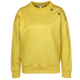 Damen Sweatshirt mit Schmuckknöpfen