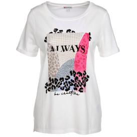 Damen Shirt mit Ziernieten und Print