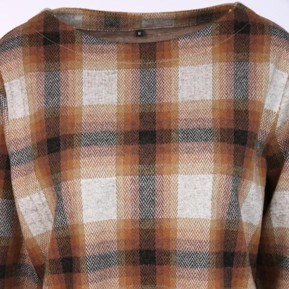 Damen Jaquard-Shirt im Karolook