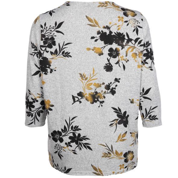 Große Größen Shirt mit floralem Print